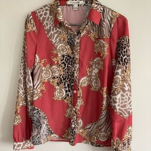 2/$15 Forever 21 Vintage Style Blouse